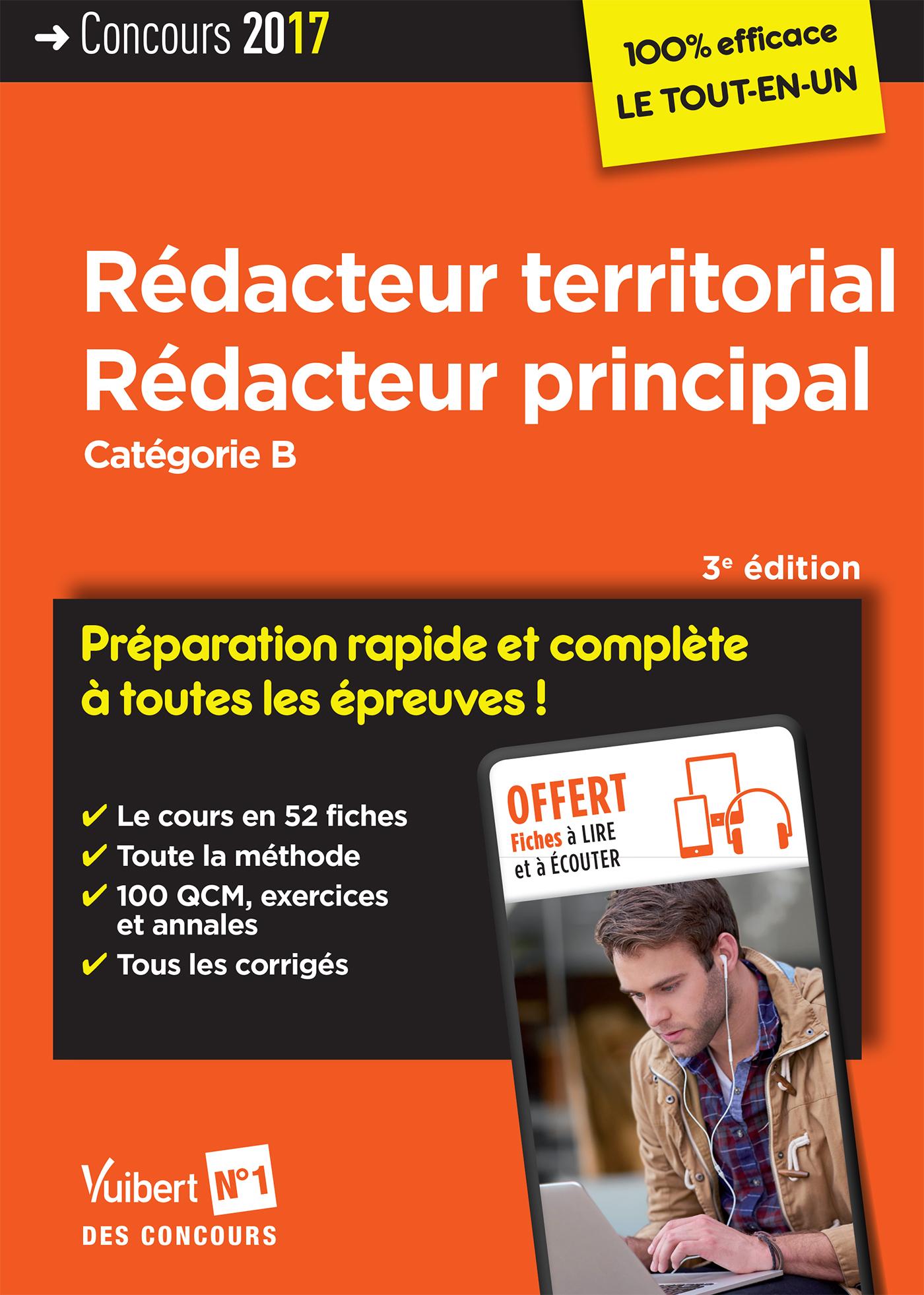 dd4c69f4ac4 Concours Rédacteur territorial et Rédacteur principal - Catégorie B -  Préparation rapide et complète à toutes les épreuves