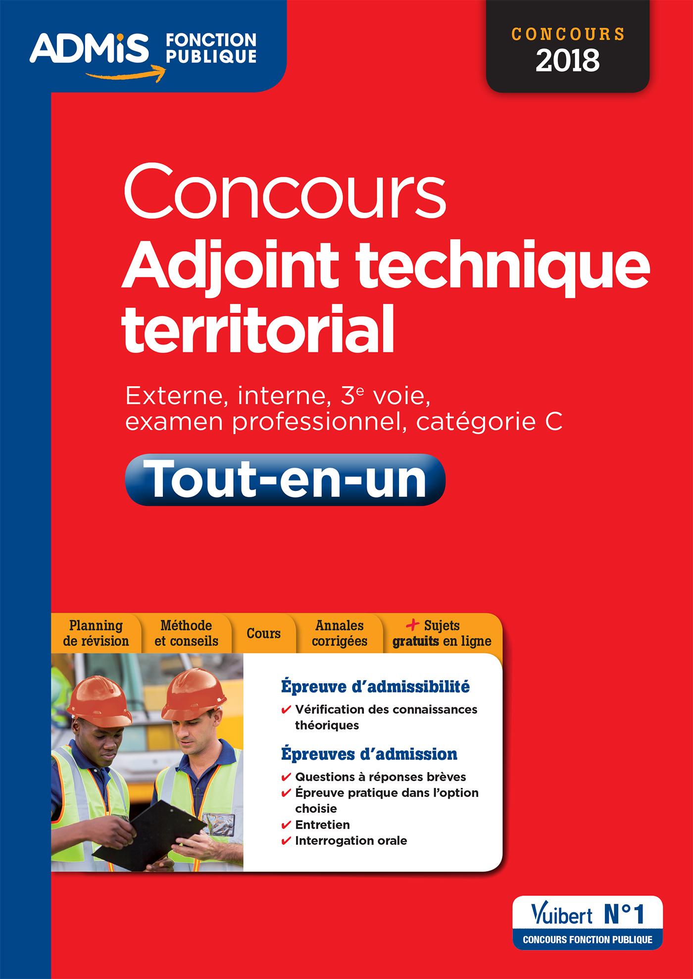 27fa74234a6 Concours Adjoint technique territorial - Catégorie C - Tout-en-un ...