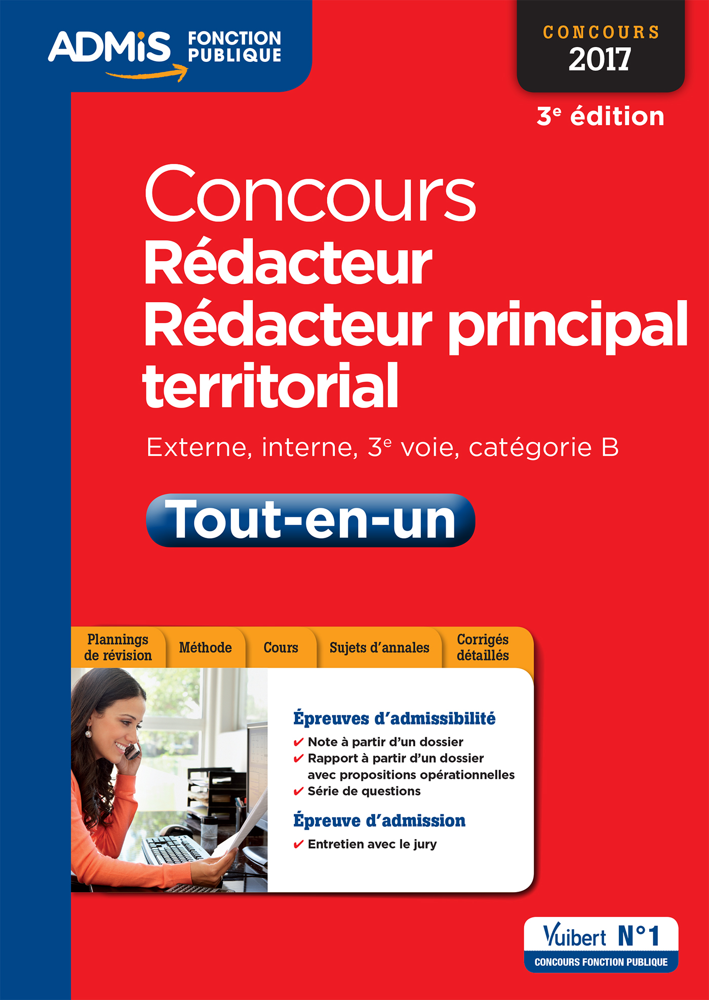 f17385a51c4 Concours Rédacteur et Rédacteur principal territorial - Catégorie B -  Tout-en-un