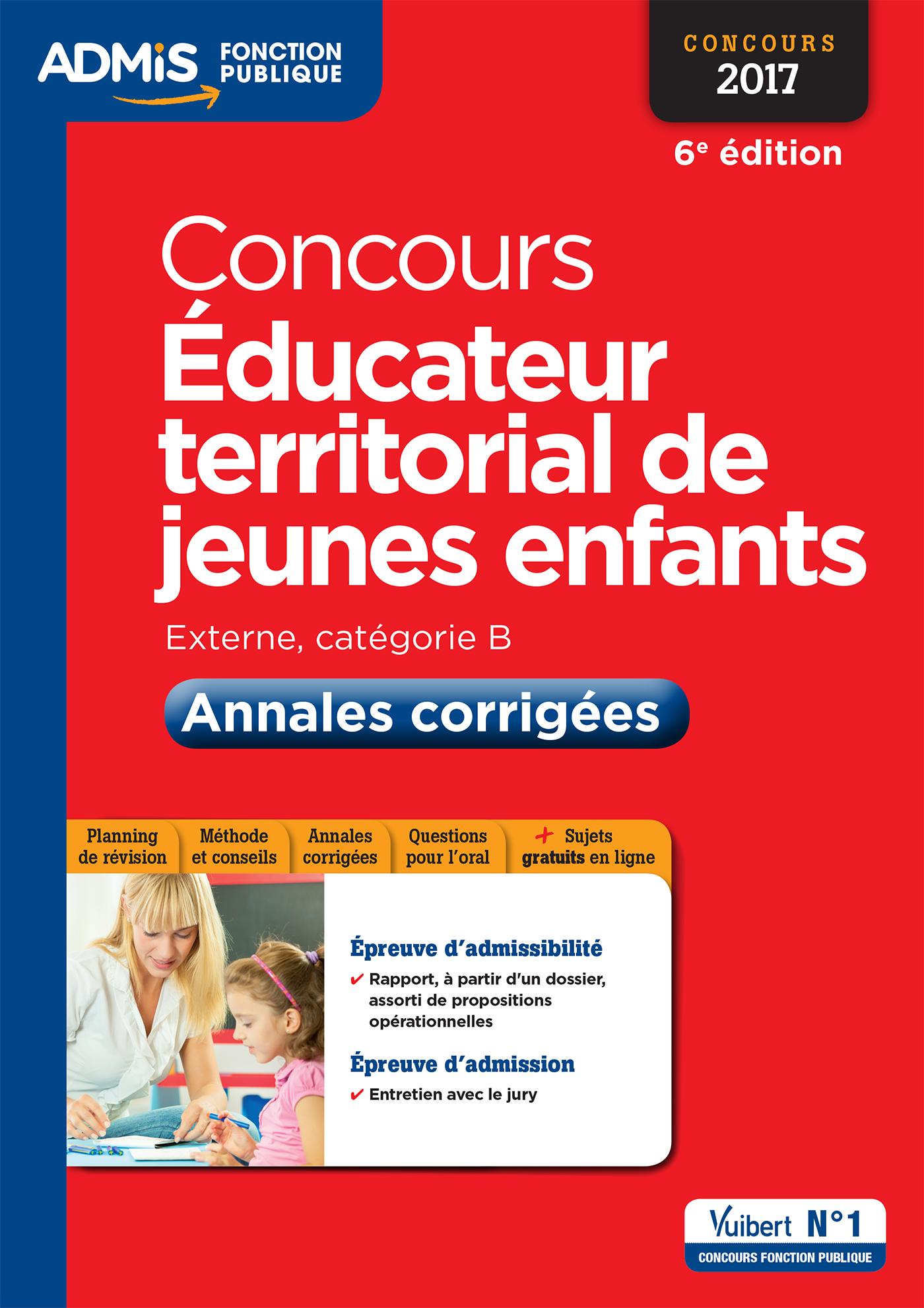Concours ducateur territorial de jeunes enfants for Educateur de jeunes enfants