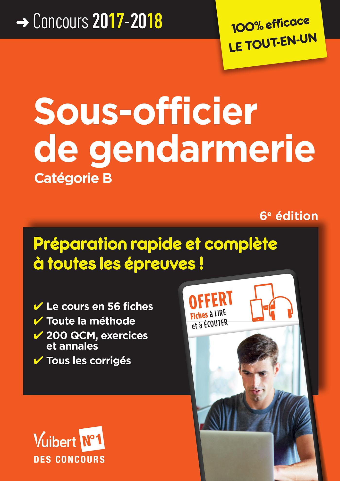 Annales concours sous officier gendarmerie cstagn