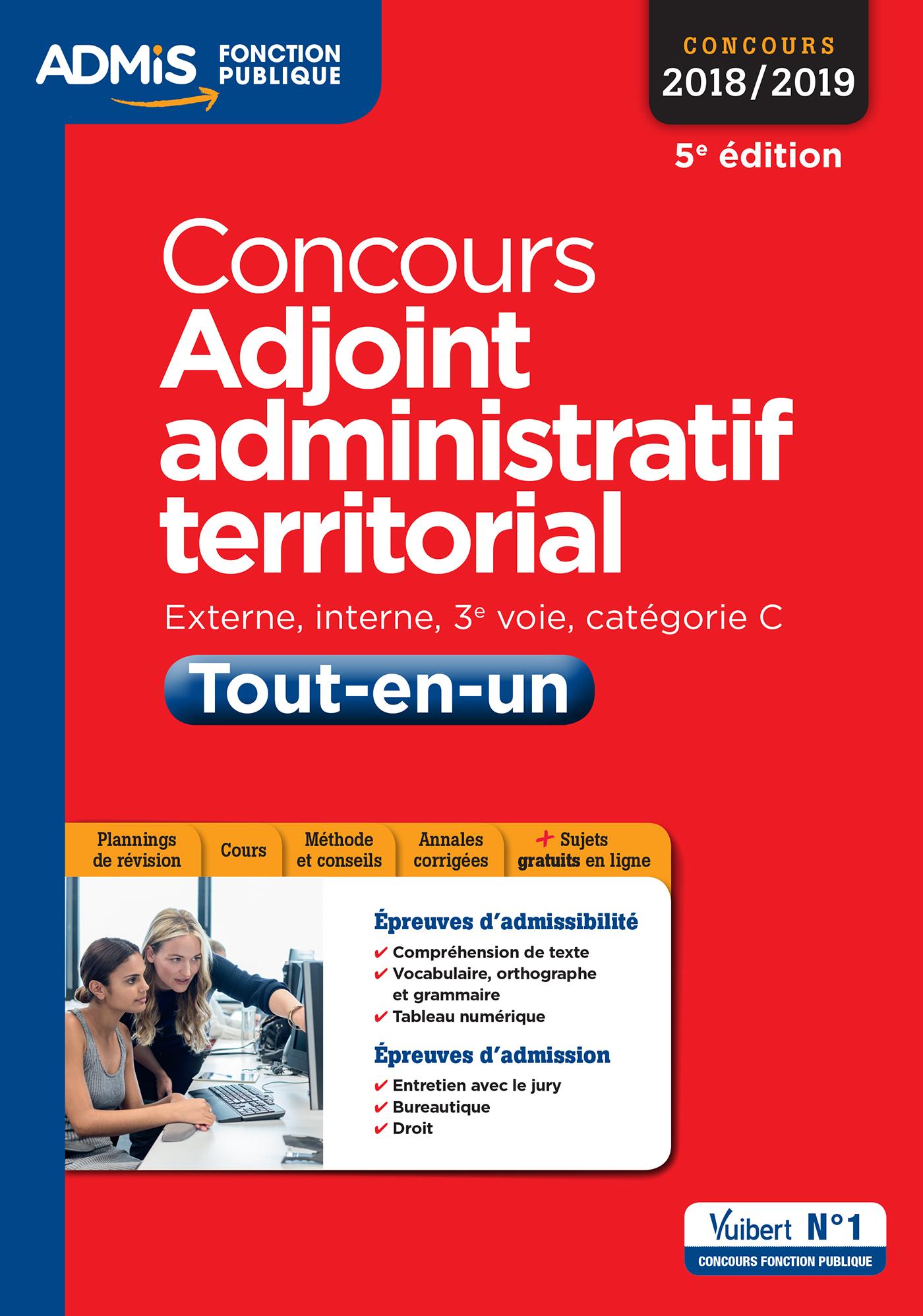 fd2faa59595 Concours Adjoint administratif territorial - Catégorie C - Tout-en ...