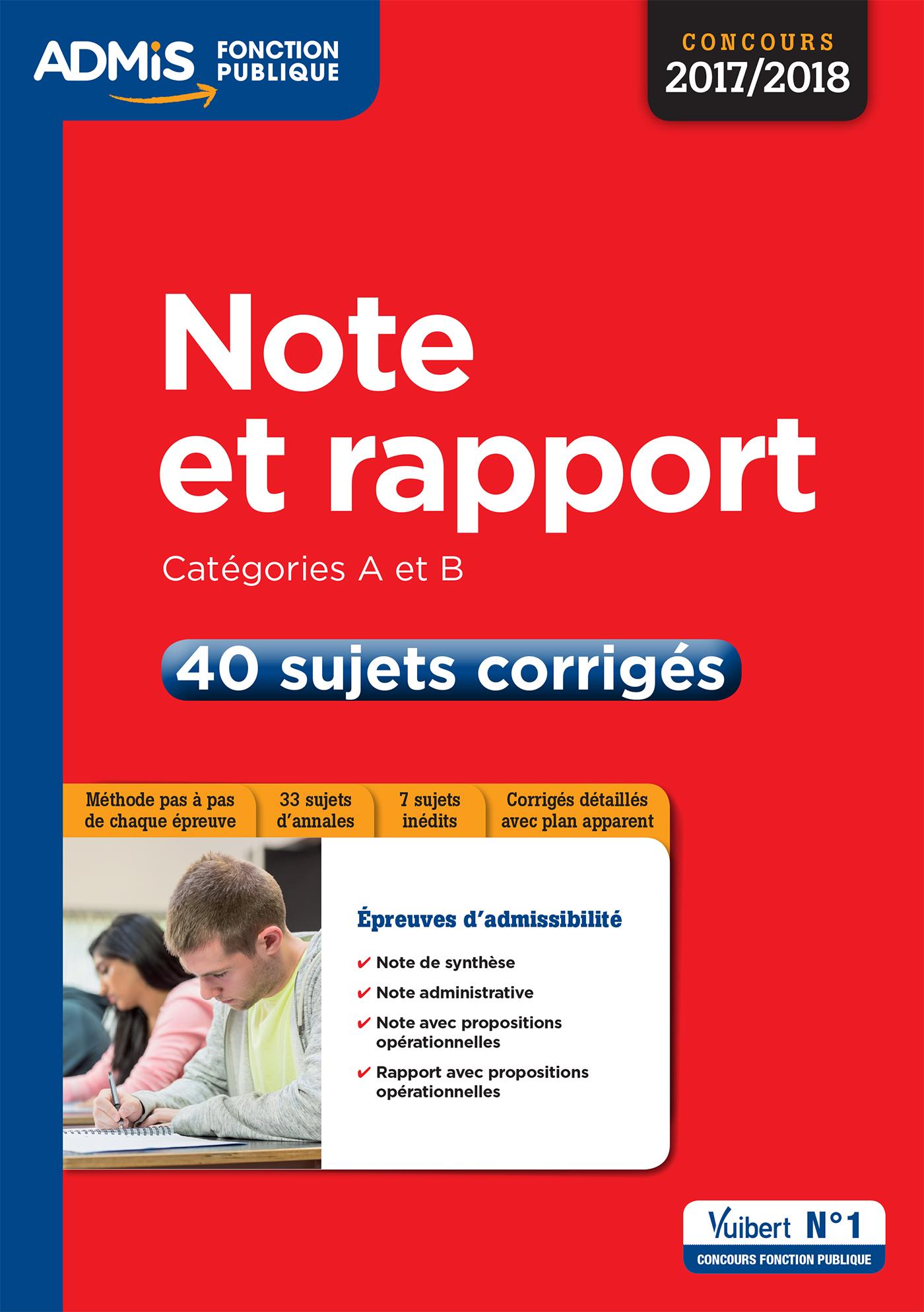 8017196b1e4 Note et rapport - Catégories A et B - 40 sujets corrigés