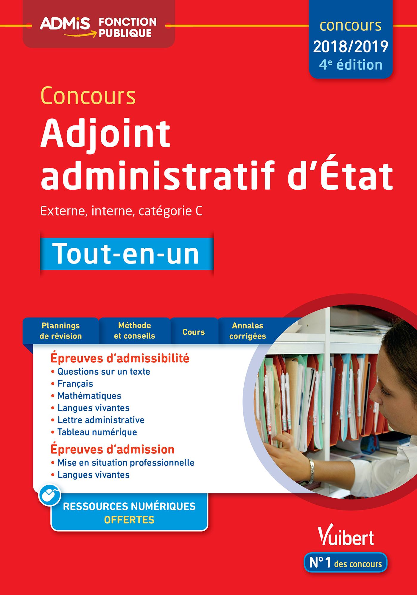 64eb58b0fdb Concours Adjoint administratif d État - Catégorie C - Tout-en-un ...