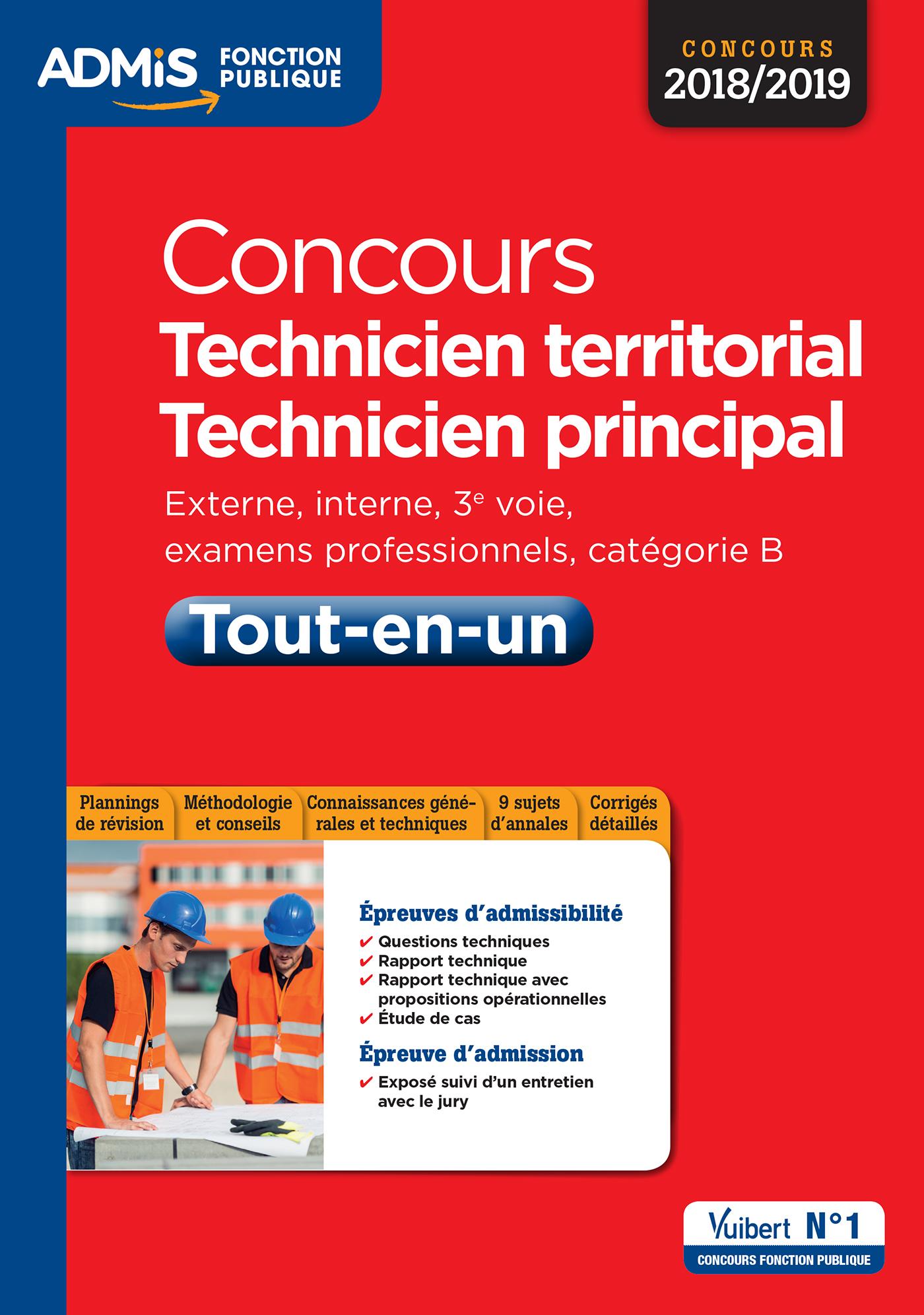 25c74618db7 Concours Technicien territorial - Technicien principal - Catégorie B - Tout-en-un