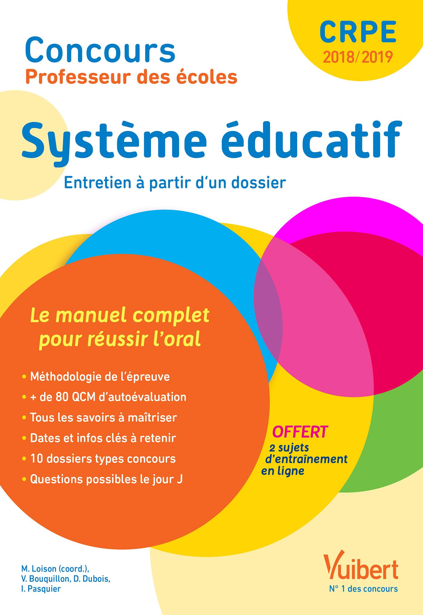 Concours Professeur des écoles - Système éducatif - Le manuel complet pour  aborder l oral   Vuibert 115564fdb474
