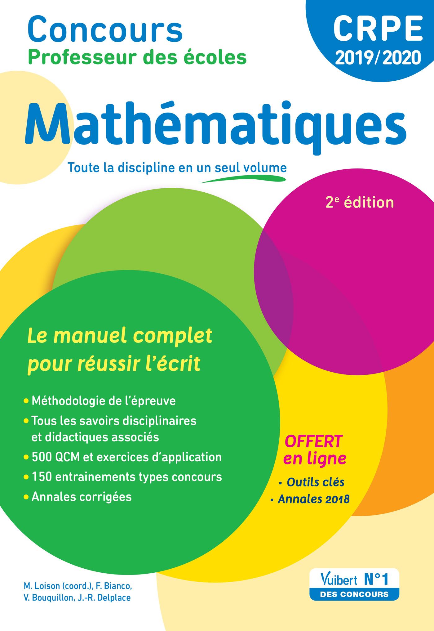c2e3dd61494 Concours Professeur des écoles - Mathématiques - Le manuel complet pour  réussir l écrit