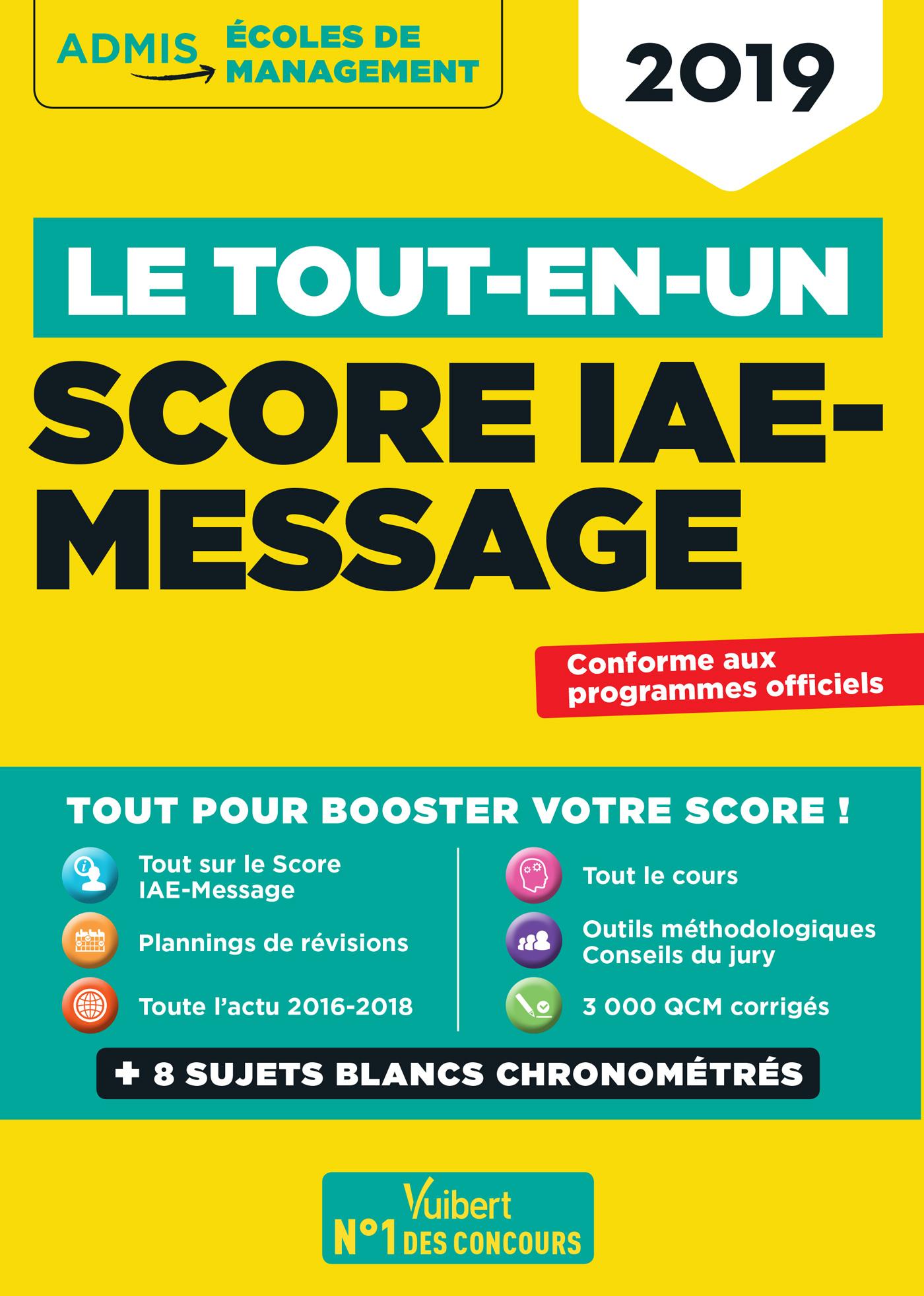 Le Tout En Un Score Iae Message Vuibert