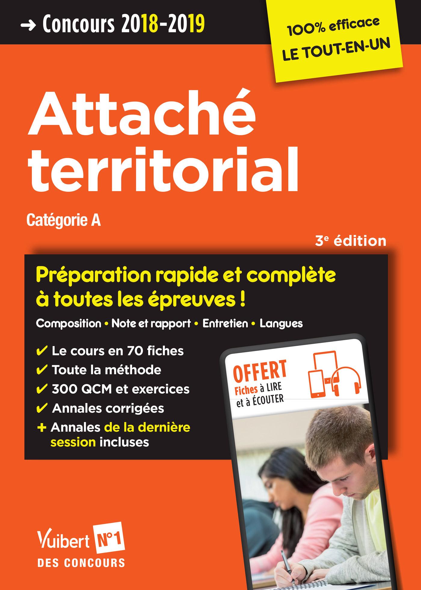 6287ae48208 Concours Attaché territorial - Catégorie A - Préparation rapide et complète  à toutes les épreuves !