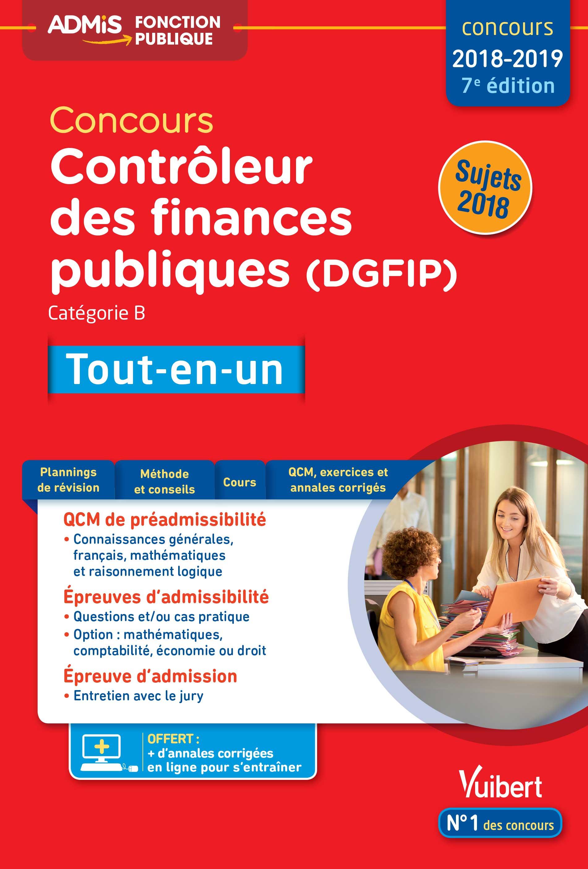 455603ea039 Concours Contrôleur des Finances publiques (DGFIP) - Catégorie B -  Tout-en-un