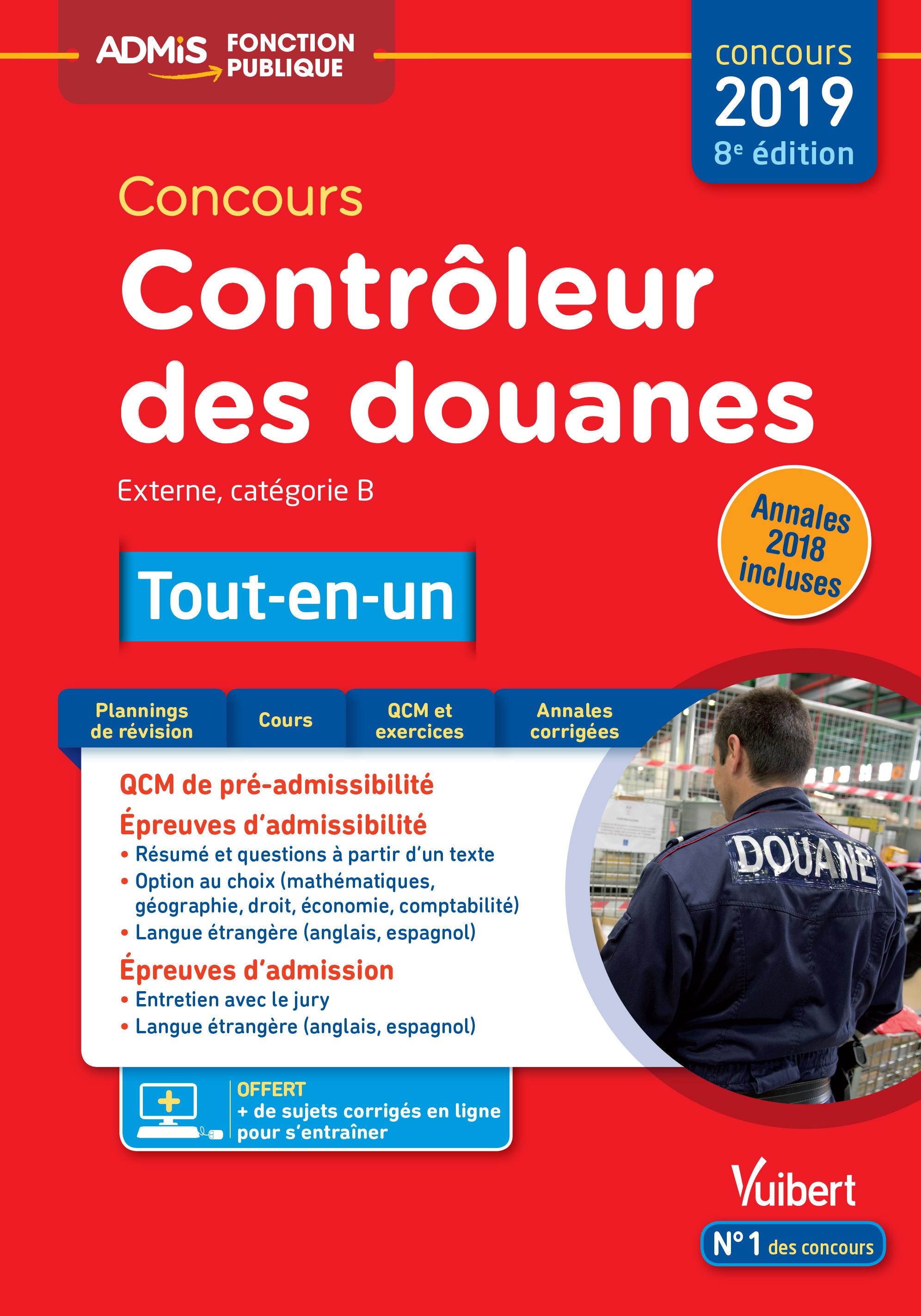 eba92d46b47 Concours Contrôleur des douanes - Catégorie B - Tout-en-un