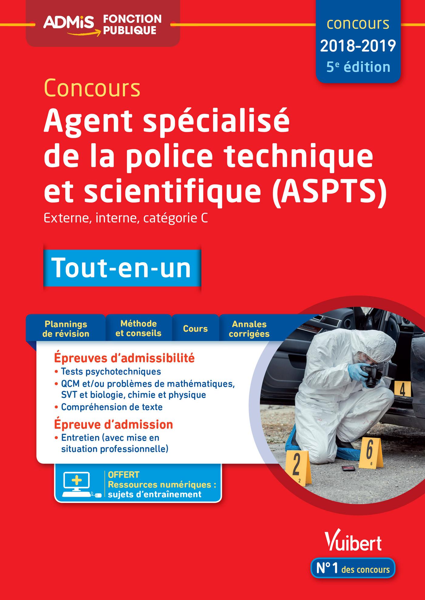 Concours Agent Specialise De La Police Technique Et Scientifique