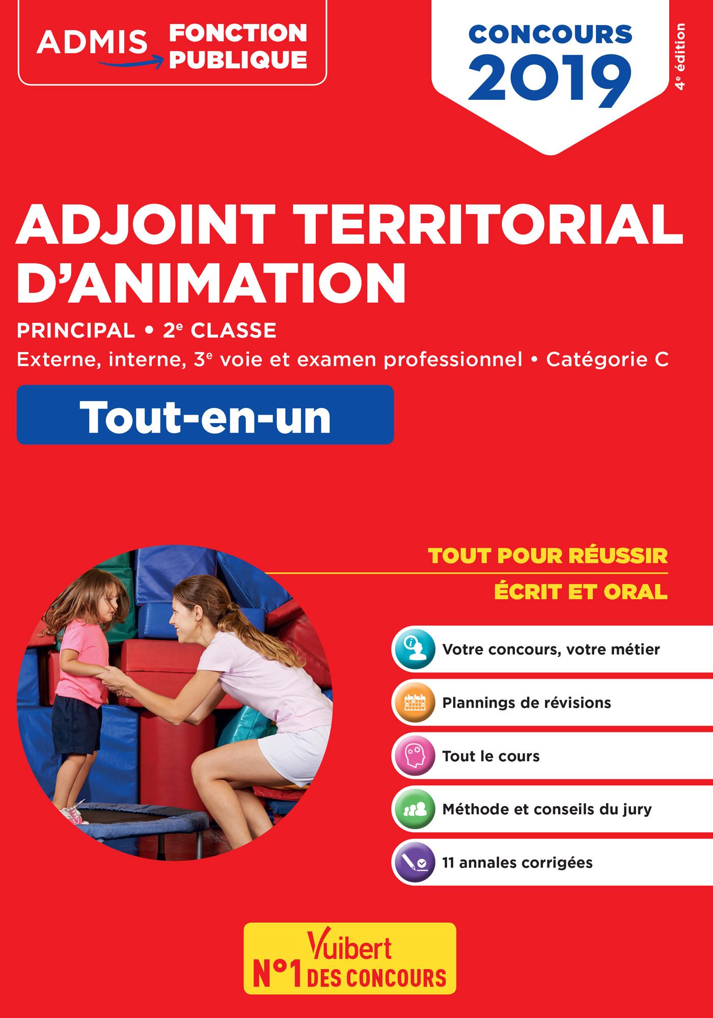4f7e4e5d185 Concours Adjoint territorial d animation principal de 2e classe -  Tout-en-un - Catégorie C