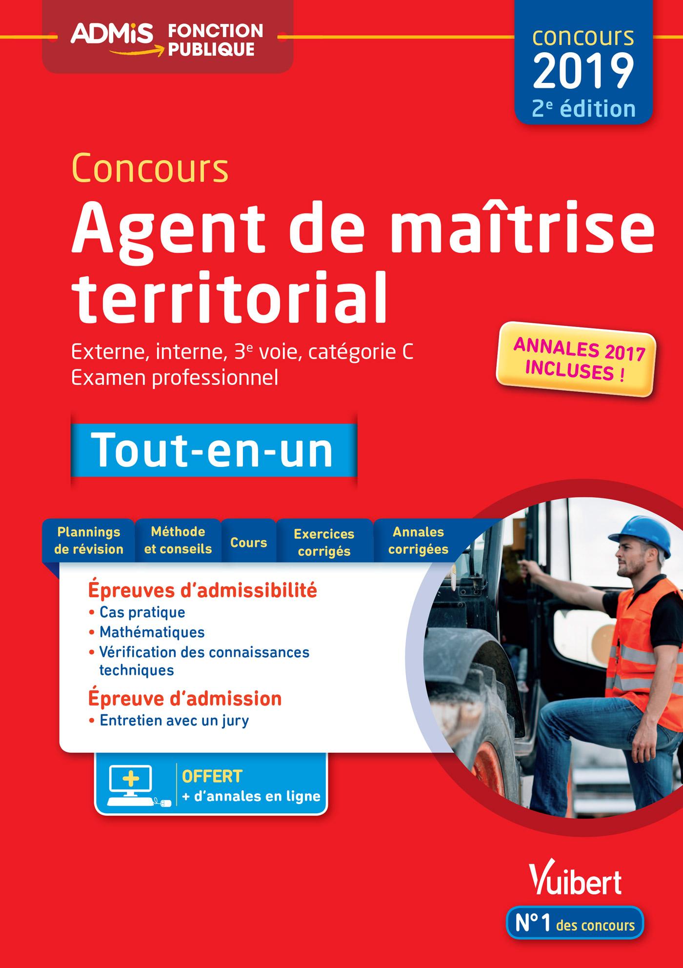 b244c25b71d Concours Agent de maîtrise territorial - Catégorie C - Tout-en-un ...