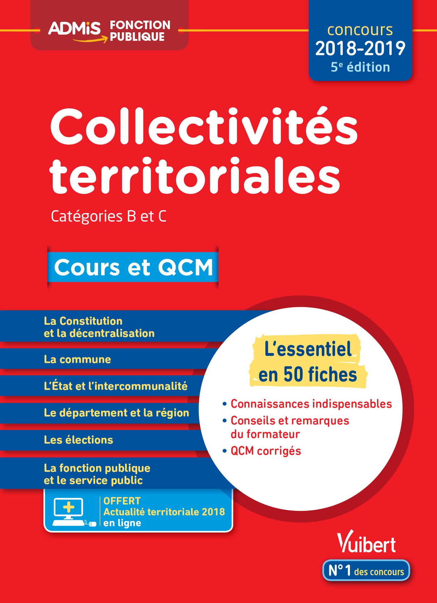 6ddbdecd664 Collectivités territoriales - Cours et QCM - Catégories B et C -  L essentiel en 50 fiches