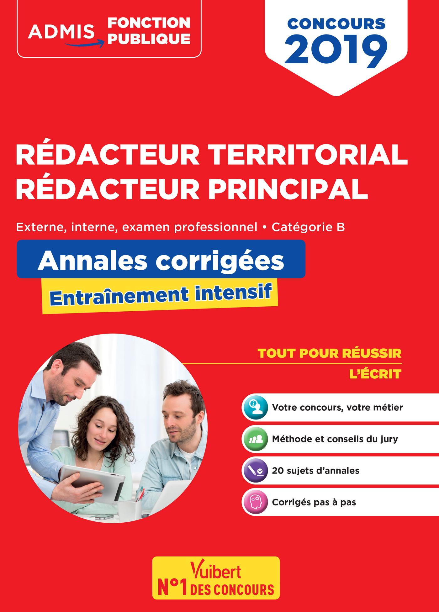 9d1f15c9729 Concours Rédacteur territorial et rédacteur principal - Annales corrigées -  Catégorie B