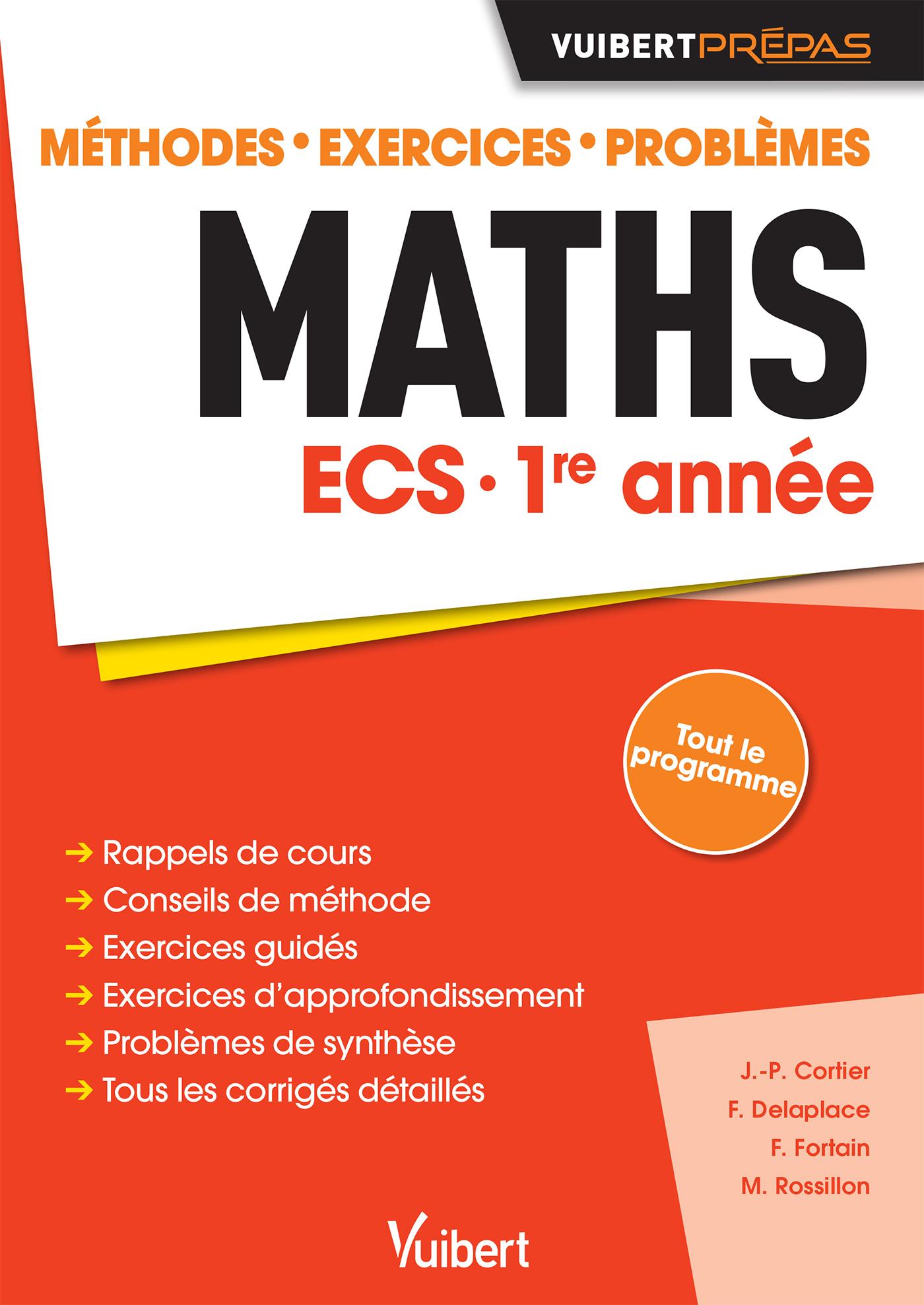 Maths Ecs 1re Année Vuibert