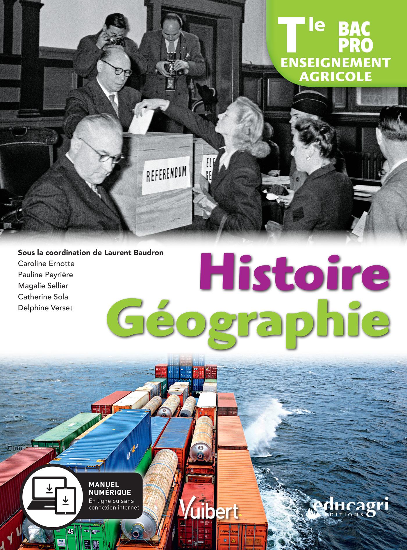Histoire Geographie Terminale Bac Pro Enseignement Agricole 2019 Manuel Eleve